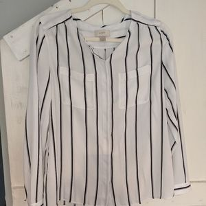 Black & white striped Dress shirt